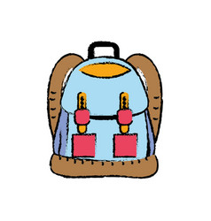 backpack object with pockets and closures design vector image