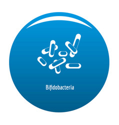 Bifidobacteria icon blue vector