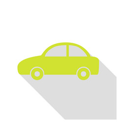 Car sign pear icon with flat style vector