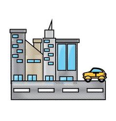 city buildings design concept vector image
