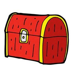 comic cartoon treasure chest vector image vector image