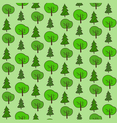 Cute hand drawn forest pattern vector