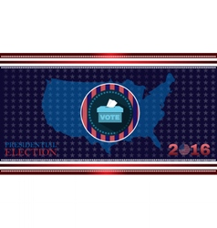 Digital usa election with 2016 vote box vector
