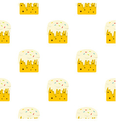 Easter cake pattern seamless vector