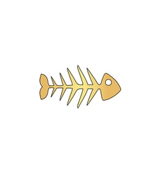 Fish skeleton computer symbol vector image