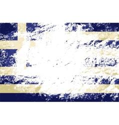 Greek flag grunge background vector