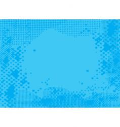 halftone blue vector image