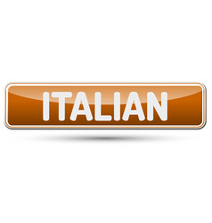 Italian - abstract beautiful button with text vector