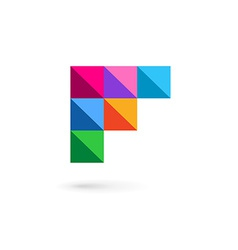 Letter f mosaic logo icon design template elements vector