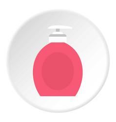 Liquid soap icon circle vector