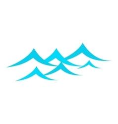 Little sea waves icon cartoon style vector