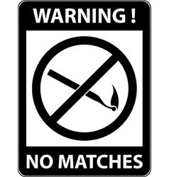 No match sign flat design vector