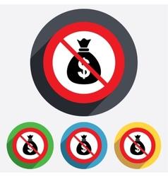 No money bag sign icon dollar usd currency vector