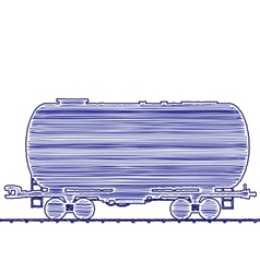 Petroleum cistern wagon freight railroad train han vector