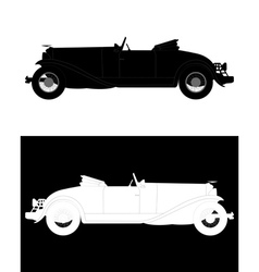 vintage classic cars vector image vector image