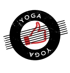 Yoga rubber stamp vector