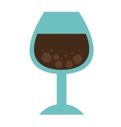 Cup drink wine icon vector