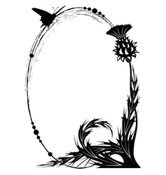 Frame with thistle vector