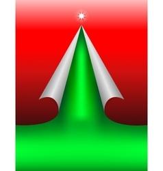 Redgreen design cut paper vector image