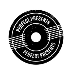 Perfect presents rubber stamp vector