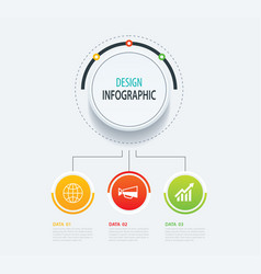 3 abstract circle infographic number business vector