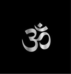 Religious Symbol of Hinduism- Pranava vector image