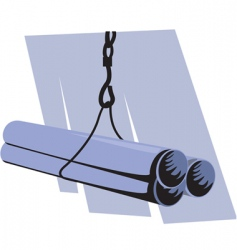 pipe lifting vector image