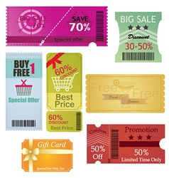 Coupons and Gift Card Design vector image