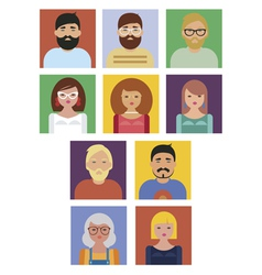 People social icons collection vector