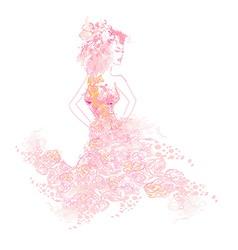 Beautiful bride vector image