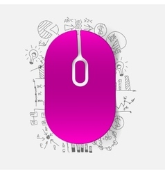Drawing business formulas mouse vector