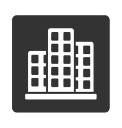 City icon from commerce buttons overcolor set vector