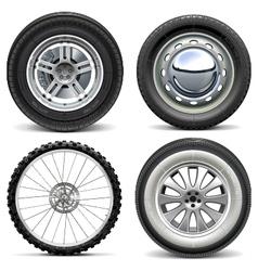 Vehicle Wheels vector image