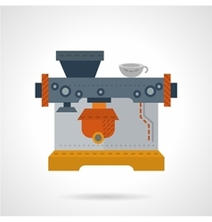 Coffee shop equipment flat color icon vector