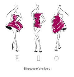 Fashion model silhouette vector