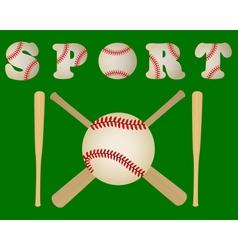 baseball bats and a ball vector image