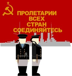 Sailor times the october revolution in russia vector