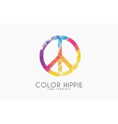 Make love not war - hippie style peace logo vector