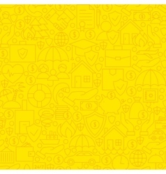 Yellow insurance line tile pattern vector