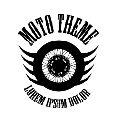 Moto wheel logo symbol vector