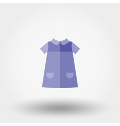 Baby dress icon vector