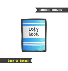 Back to school supplies hand drawn icon vector