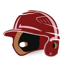 baseball helmet isolated vector image vector image