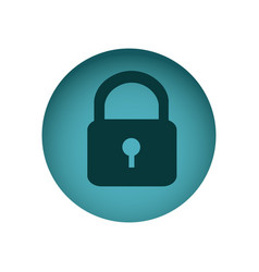 blue emblem lock icon vector image