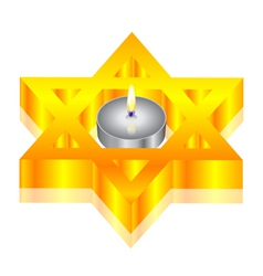 Candle star of david vector