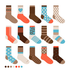 colorful pastel cute socks vector image vector image