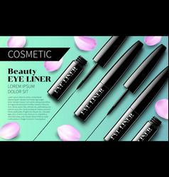 Eyeliner premium ads mockup soft vector