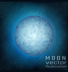 full moon in the sky vector image vector image