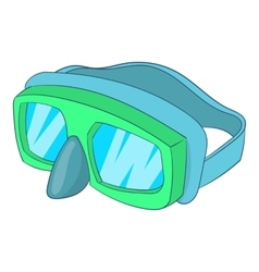 Goggles for diving icon cartoon style vector