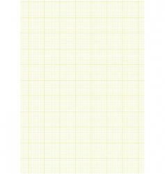 graph paper a4 sheet green vector image